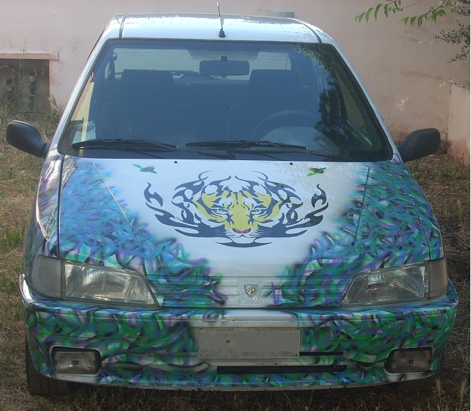 Airbrush car front